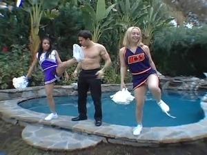 Goldie Cox and ebony cheerleader