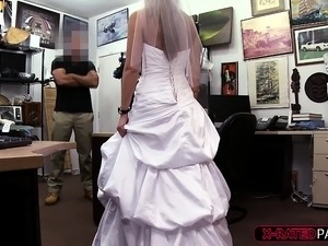 Enticing and blonde bride gets fucked hard by Shawn