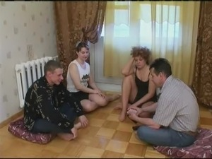 Russian strip poker-Swinger couples 1