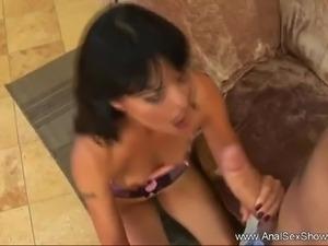 Russian Brunette MILF Anal Sex Ride