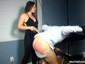 Spanking my Sub's Ass