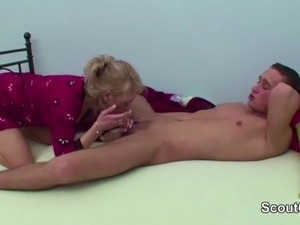 Mom Wake Up 18yr old Step-Son to Fuck when dad away