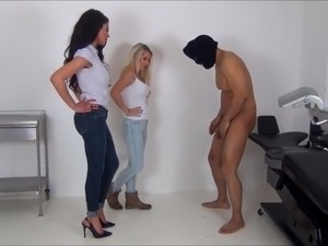 Two hot mistresses Extreme ballbusting