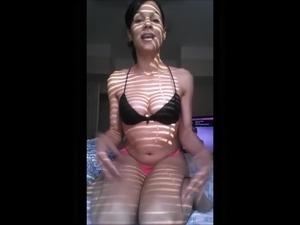 super slutty brunette milf showing off her wet-pussy