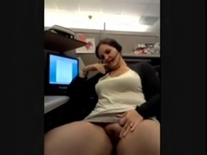 hot MILF Bating at work place