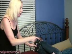 Lesbian Nylon Foot Fetish: Lexi's punished