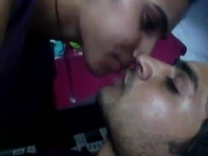 Indian girl hot and horny kiss to her bf