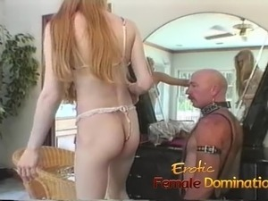 Two lusty blondes suck on dildos in front of a horny stud