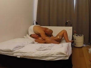 Swedish blonde fucked with a bottle