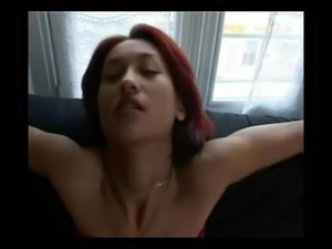 hot milf smoking on sofa