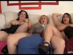 Plumper Orgy with Multiple Models