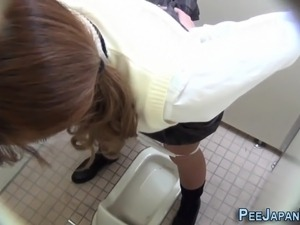 Creepy japanese pissing