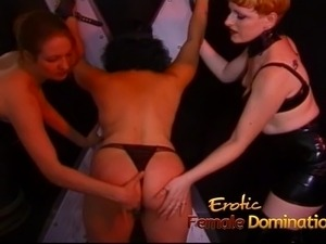 Two kinky sluts have some fun with a gorgeous horny babe