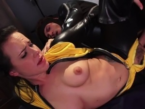 Horny superheroes in their costumes have great hardcore sex