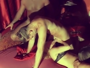 Hot German MILF - Homemade Gangbang 4