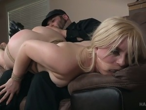 Kinky chick Dresden was caught by impotent and fucked hard with sex toys