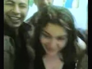 egypt girl dance with group and Take off her clothes