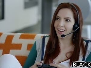 Heart stopping redhead angel Ember Stone gets pleased with bbc
