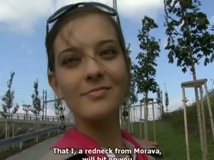 Juicy amateur girl from Czech Republic allows to feel up her boobies