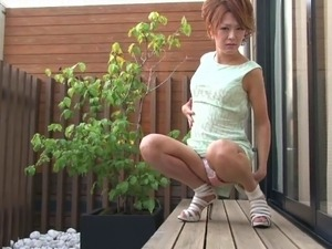 Impressive Japanese shemale jerks her dick with the ultimate passion
