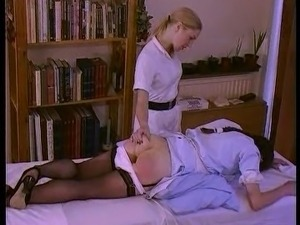 Temperature Rising - Naughty nurses get spanked hard