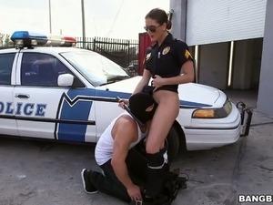 Stunning police officer Molly Jane fucks a horny criminal