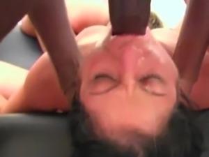 Throat fuck gang bang