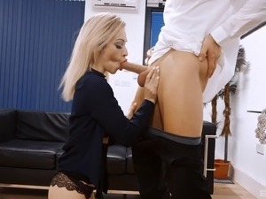 Office seduction makes Chessie ready for the doggy style penetration