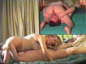 Great sex tape of my buddy's blonde wife sucking him in 69 pose