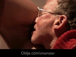 Sick horny grandpas anal fucking treatment from young nurse