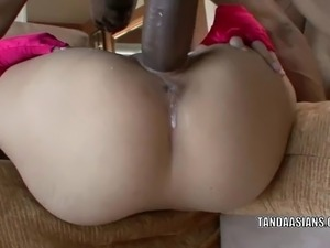 Petite coed Miley Villa takes some big black cock and gets her face plastered...