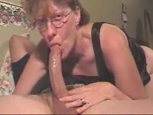 slut mom sucks cock & swallows my load