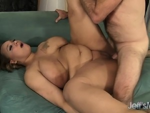 Huge girl gets licked, sucks and fucks and is surprised how good it feels in...