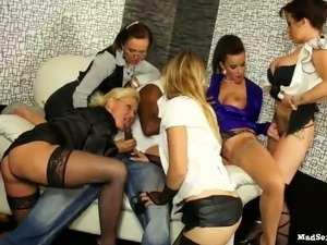 Oversexed party sluts can't get enough of their friend's black cock