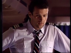 Pilot seduces his horny flight attendant