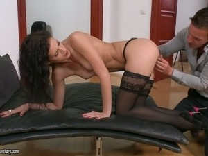 Lusty secretary Leanna Sweet fucks her boss in the office