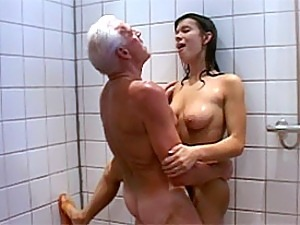 Naked cock old men in shower