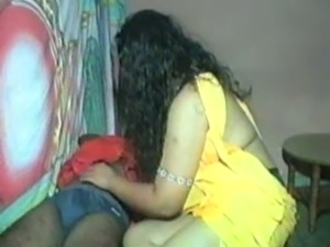My fat and cute Indian babe rides me on top with her big booty