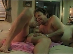 Hot older couple enjoy