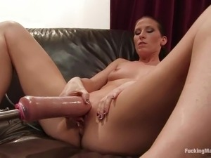 Heavy anal penetration from a machine to Ariel X