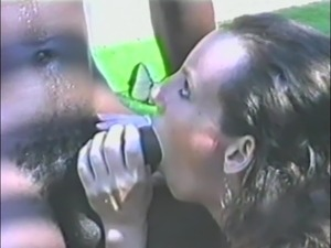 Interracial Sex in Vintage Clip With a Horny Brunette