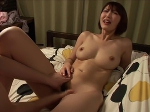 Perfect big natural Japanese tits on this hardcore babe