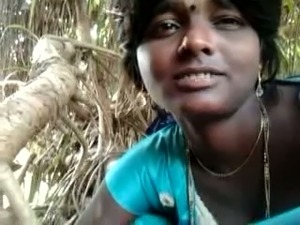 Beautiful and authentic village girl gives head to her BF