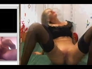 Jerking off and cuming for a MILF hot ass and nylon feet