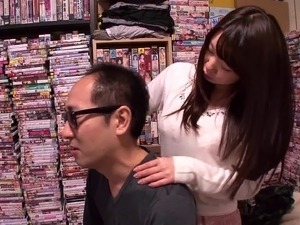 slutty Aika Makes A Fan's Dream Come True when she got spanked in the lib.