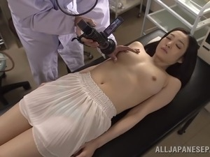 japanese cowgirl is fondled nicely by doctor in uniform