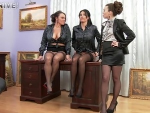 Office girls having their first time lesbians shoot