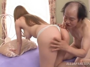 Vibrant old man bangs his elegant mistress hardcore in an old vs young affair