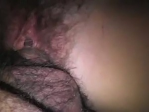 Soaking wet hairy pussy of my wife begs for a creampie