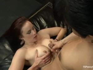 Transsexual doctor fucks horny girl in mouth and pussy